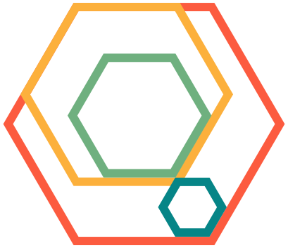 nested hex logo